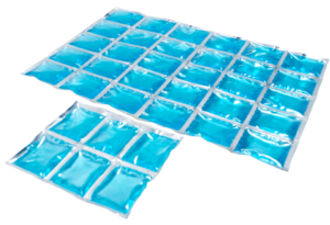 Flexible refrigerant mats in large and small